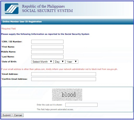 How to Register or Sign-up for SSS ONLINE Membership Account ...