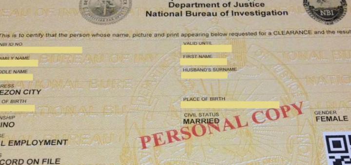 NBI clearance application